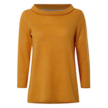 Buy White Stuff Magnolia Roll Neck Top, Mustard Yellow Online at johnlewis.com
