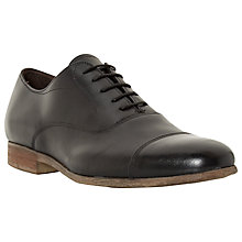 Buy Bertie Rayne Leather Oxford Shoes, Black Online at johnlewis.com