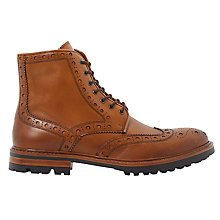 Buy Bertie Cyrus Leather Brogue Boots, Tan Online at johnlewis.com