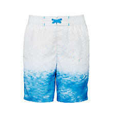 Buy John Lewis Boys' Ombre Boardie Shorts, Blue Online at johnlewis.com