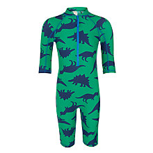 Buy John Lewis Boys' Dinosaur All In One SunPro Suit, Green Online at johnlewis.com