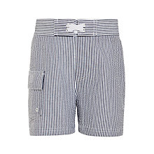 Buy John Lewis Boys' Striped Board Shorts, Blue Online at johnlewis.com
