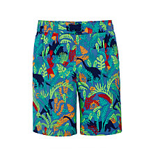 Buy John Lewis Boys' Dino Jungle Board Shorts, Green Online at johnlewis.com