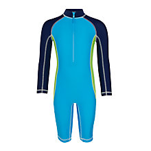 Buy John Lewis Boys' All In One Panel SunPro Suit, Blue Online at johnlewis.com