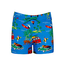 Buy John Lewis Boys' Camper Van Print Trunks, Blue Online at johnlewis.com