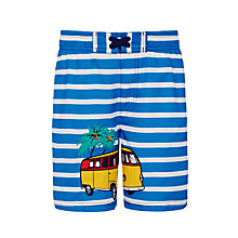 Buy John Lewis Boys' Stripe Camper Van Print Board Shorts, Blue Online at johnlewis.com