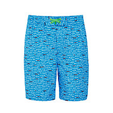Buy John Lewis Boys' Fish Print Boardie Swim Shorts, Blue Online at johnlewis.com