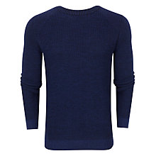 Buy Ted Baker Reeko Rib Panelled Jumper, Blue Online at johnlewis.com