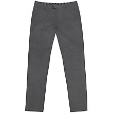 Buy Ted Baker Lommy Brushed Trousers, Charcoal Online at johnlewis.com
