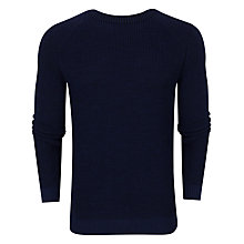 Buy Ted Baker Reeko Rib Panelled Jumper, Navy Online at johnlewis.com