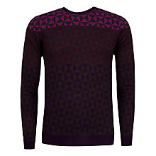 Buy Ted Baker Zano Ombre Pattern Jumper, Purple Online at johnlewis.com