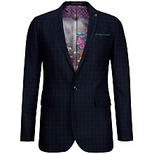 Buy Ted Baker Kimball Houndstooth Blazer, Dark Blue Online at johnlewis.com
