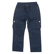 Buy Polarn O. Pyret Children's Cargo Trousers, Dark Ink Online at johnlewis.com