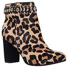 Buy KG by Kurt Geiger Sphynx Block Heeled Ankle Boots, Leopard Pony Online at johnlewis.com