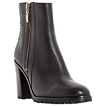 Buy Dune Prett Cleated Sole Ankle Boot, Black Leather Online at johnlewis.com