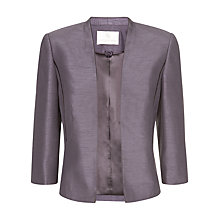 Buy Jacques Vert Edge to Edge Jacket, Dark Purple Online at johnlewis.com