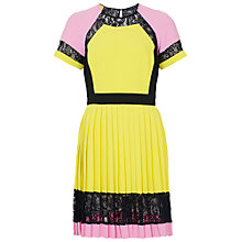 Buy French Connection Arrow Lace Pleated Dress Online at johnlewis.com