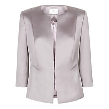Buy Jacques Vert Sateen Edge to Edge Jacket, Mid Purple Online at johnlewis.com