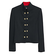 Buy Mango Stand Collar Button Jacket, Black Online at johnlewis.com