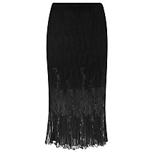 Buy Windsmoor Crinkle Lace Skirt, Black Online at johnlewis.com
