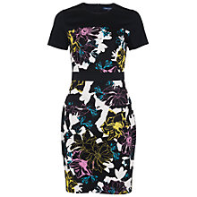 Buy French Connection Botanical Trip Dress, Black Multi Online at johnlewis.com