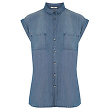 Buy Oasis Soft Denim Taylor Shirt, Blue Online at johnlewis.com