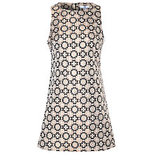 Buy True Decadence Jacquard Sleeveless Dress, Gold Online at johnlewis.com