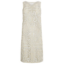Buy Windsmoor Embroidered Cornelli Dress, Oyster Online at johnlewis.com
