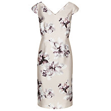 Buy Jacques Vert Floral Print Shift Dress, Mid Neutral Online at johnlewis.com