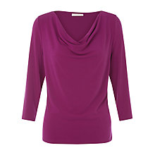 Buy Kaliko Crepe Cowl Neck Top, Mid Pink Online at johnlewis.com