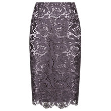 Buy Jacques Vert Lace Skirt, Mid Purple Online at johnlewis.com