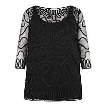 Buy Windsmoor Cornelli Tunic Top, Black Online at johnlewis.com