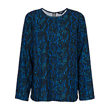 Buy French Connection Soho Boa  Drape Tunic Top, Black Multi Online at johnlewis.com