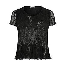 Buy Windsmoor Crinkle Lace Top, Black Online at johnlewis.com