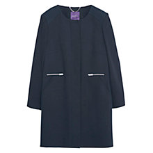 Buy Violeta by Mango Long Cotton Coat, Black Online at johnlewis.com