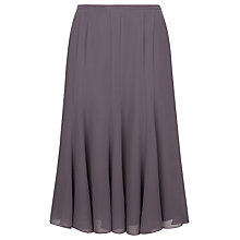 Buy Jacques Vert Chiffon Godet Flared Skirt, Dark Purple Online at johnlewis.com