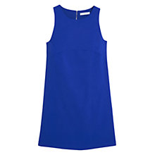 Buy Mango Sleeveless Shift Dress, Bright Blue Online at johnlewis.com