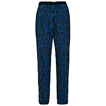 Buy French Connection Boa Drape Trousers, Black Multi Online at johnlewis.com