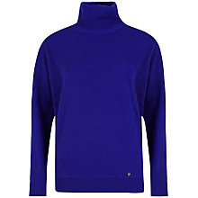 Buy Ted Baker Meera Cashmere Roll Neck Jumper, Blue Online at johnlewis.com