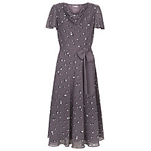Buy Jacques Vert Pearl Spot Dress, Dark Purple Online at johnlewis.com
