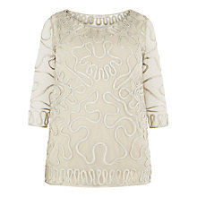 Buy Windsmoor Cornelli Lace Tunic Top, Oyster Online at johnlewis.com