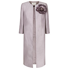 Buy Jacques Vert Long Occasion Coat, Mid Purple Online at johnlewis.com