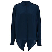 Buy French Connection Super Silk Shirt, Nocturnal Online at johnlewis.com