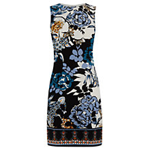 Buy Warehouse Floral Print Border Shift Dress, Multi Online at johnlewis.com
