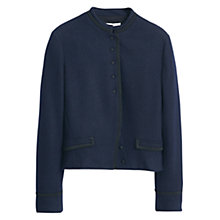 Buy Mango Side Pocket Wool Blend Jacket, Navy Online at johnlewis.com