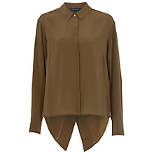 Buy French Connection Super Silk Shirt, Turtle Online at johnlewis.com