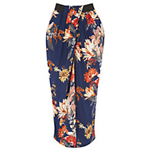Buy Warehouse Summer Floral Wrap Midi Skirt, Multi Online at johnlewis.com