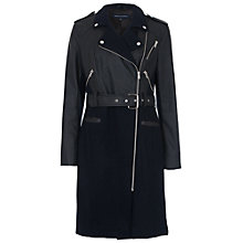 Buy French Connection Idol Belted Trench Coat, Nocturnal / Black Online at johnlewis.com