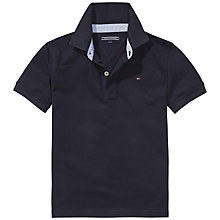 Buy Tommy Hilfiger Boys' Short Sleeve Polo Shirt, Midnight Blue Online at johnlewis.com
