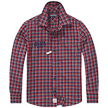 Buy Tommy Hilfiger Boys' Cashman Check Shirt, Red Online at johnlewis.com